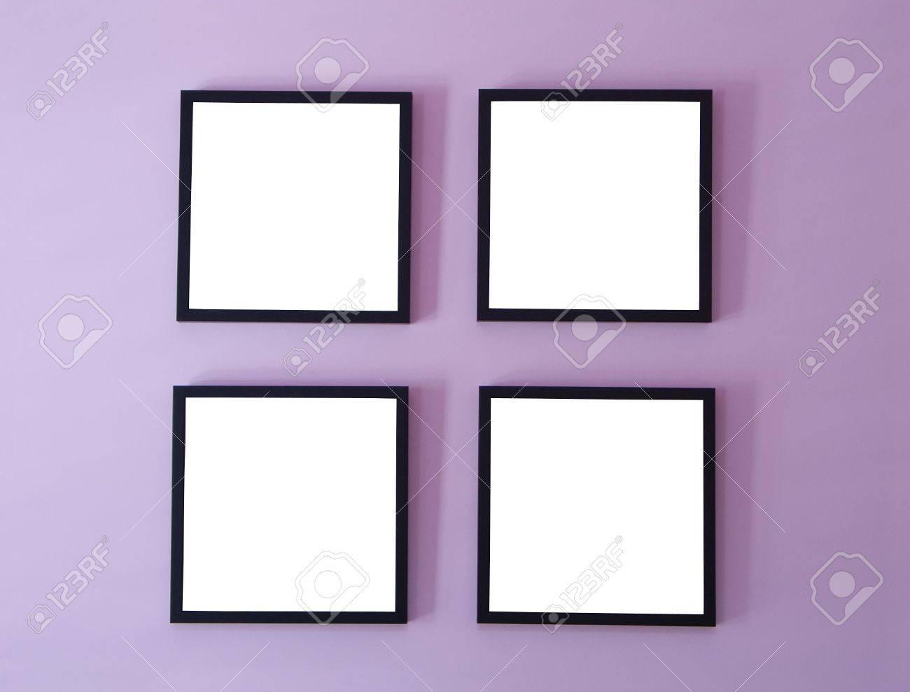 Four Frames On Wall Stock Photo, Picture And Royalty Free Image ...