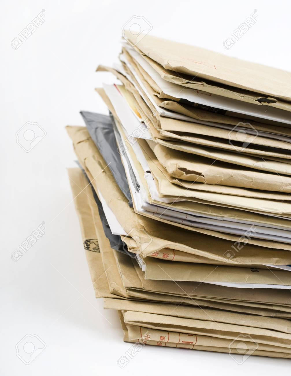 File Stack close up shot on white background Stock Photo - 6904240