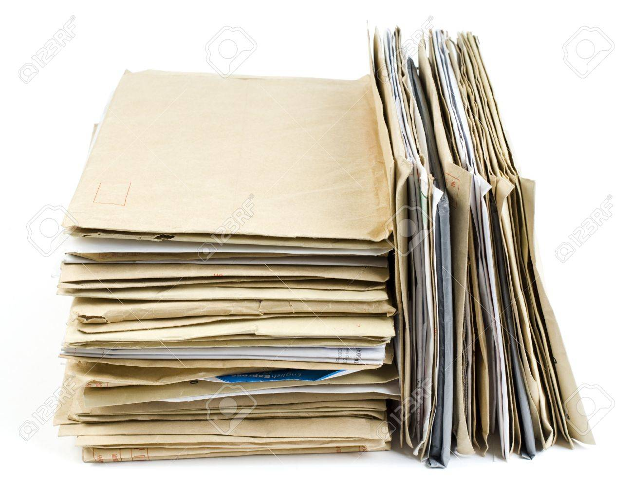 File Stack close up shot on white background Stock Photo - 6904236