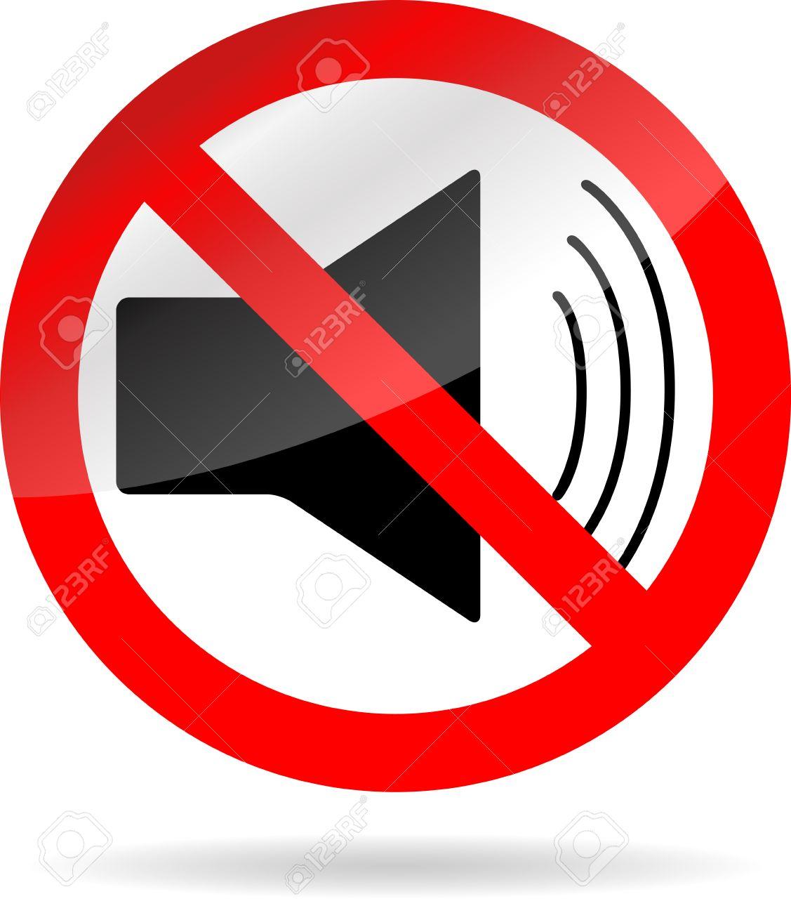 Regístrate Icono De Sonido Prohibición. No De Volumen, Sonido ...