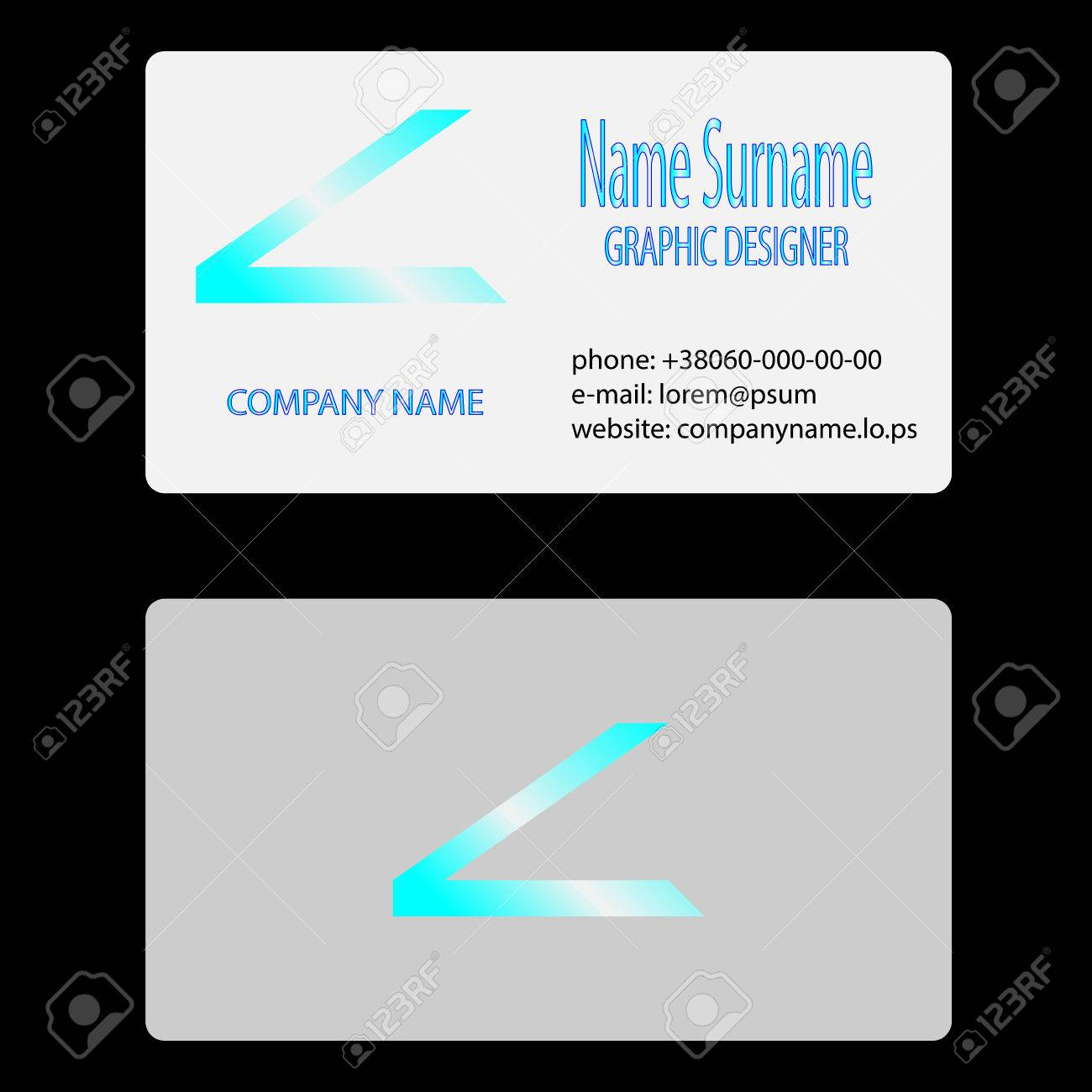 Visit Business Card. Address Website Email Contacts Info, Vector ...