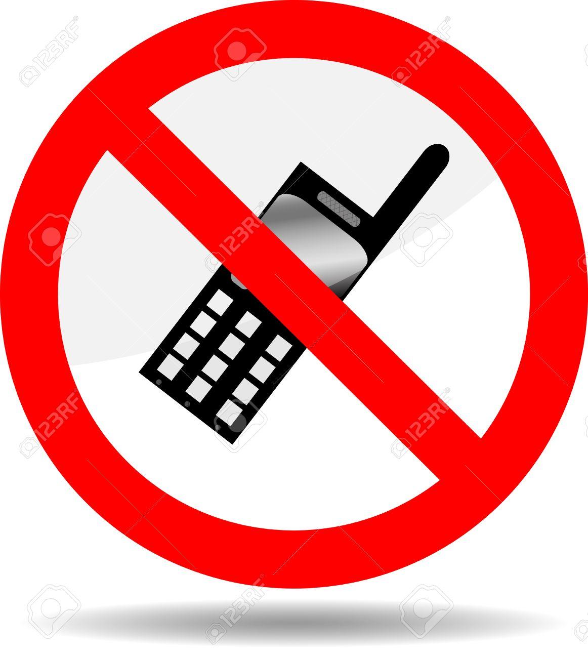 Ban Telephone. Symbol Phone, Prohibited Call Icon, Forbid And ...