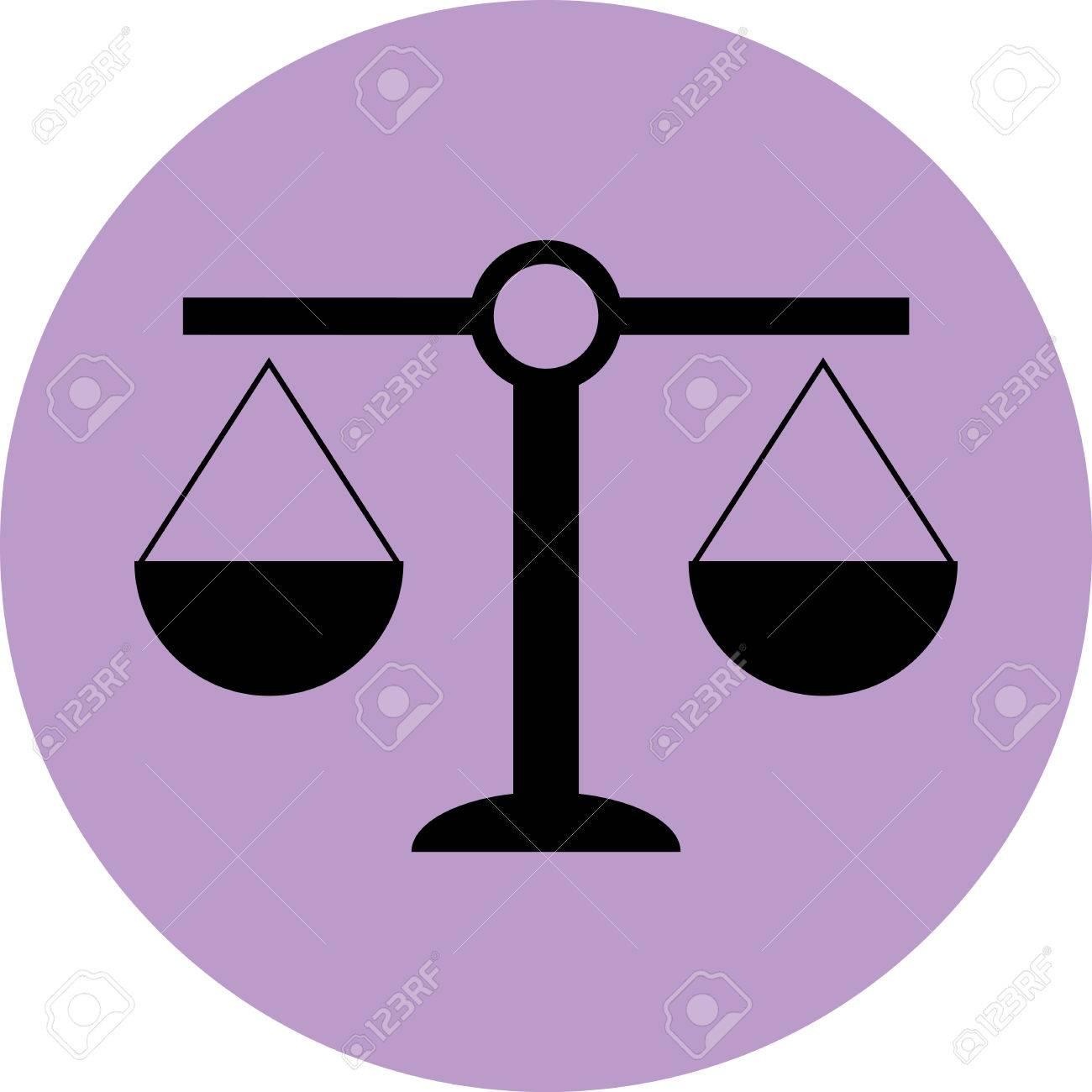 Bilancia Icona La Giustizia E Luguaglianza Il Diritto Andcourt