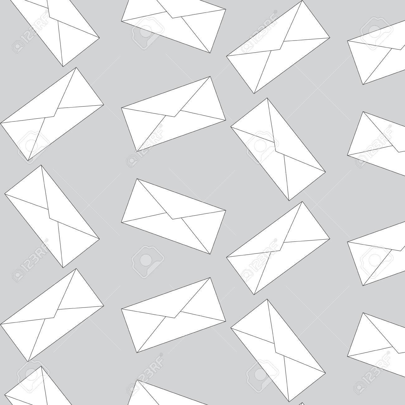 Sobre Del Patrón Electrónico Sin Fisuras. Carta Del Mensaje, Patrón ...