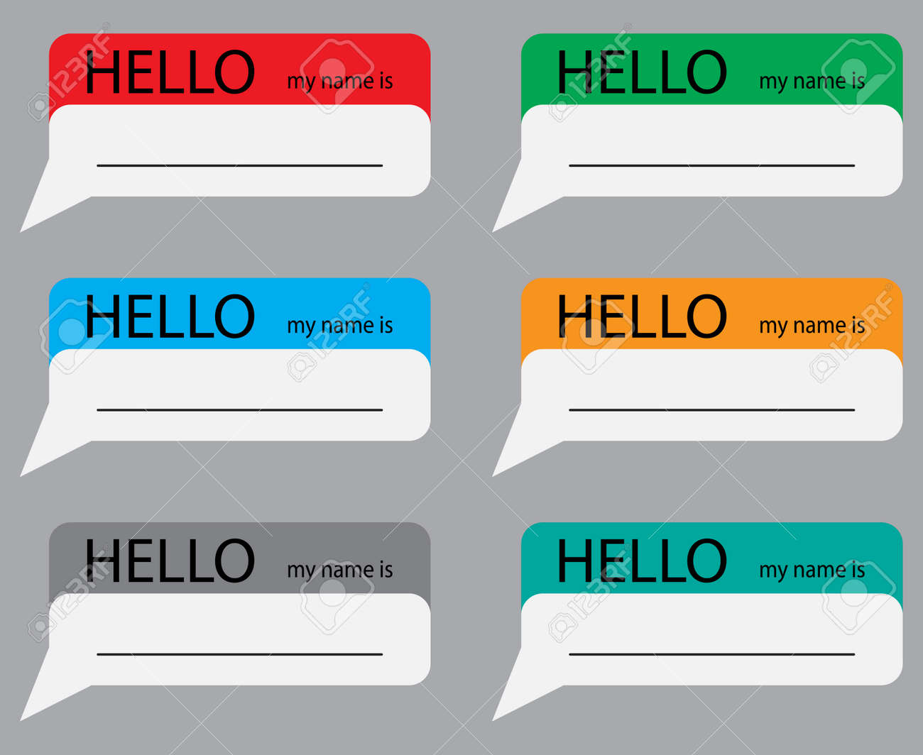 Hello My Name Sticker Set Color Name Tag Name Card Baby Names