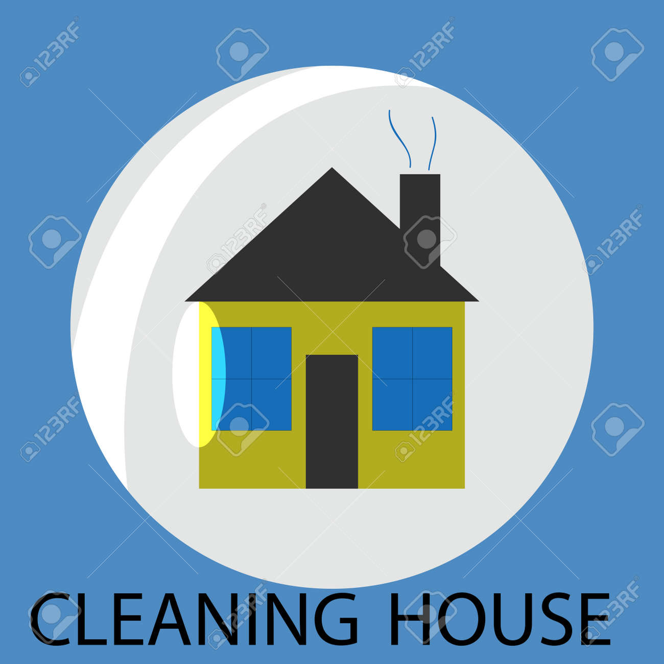 cleaning house icon cleaning and cleaning service clean house house cleaning service