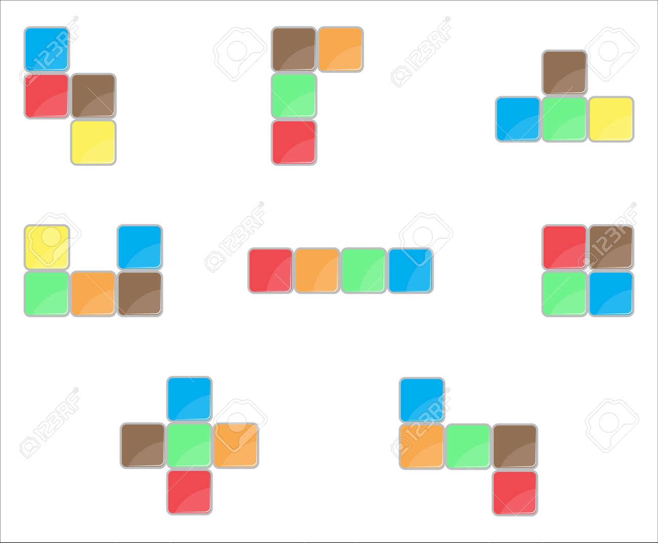 Tetris Elemento De Diseno Determinado Color Juego De Puzzle Tetris
