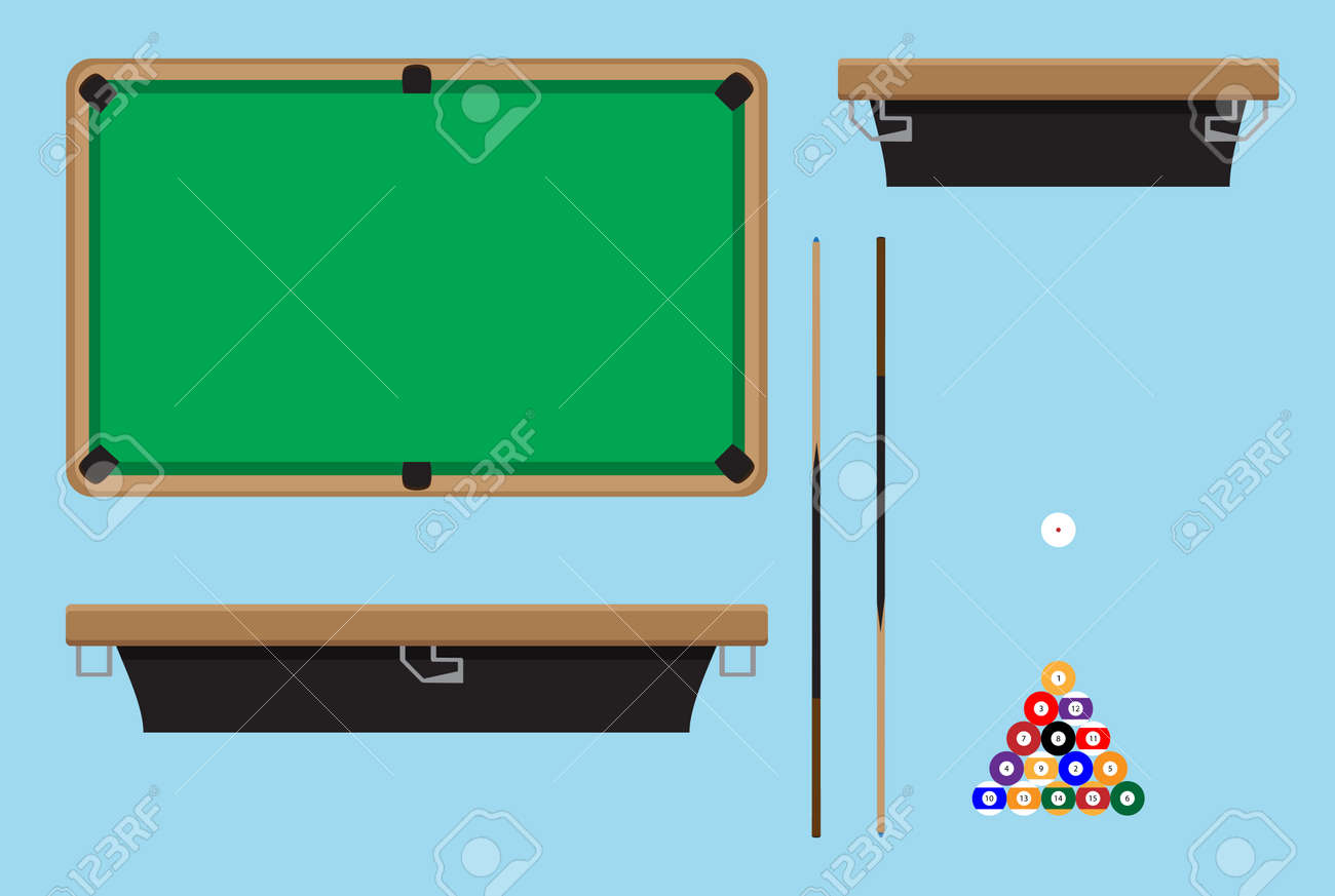 Pool Table Top Side. Billiard Table And Snooker Table, Game Room Snooker,  Hobby