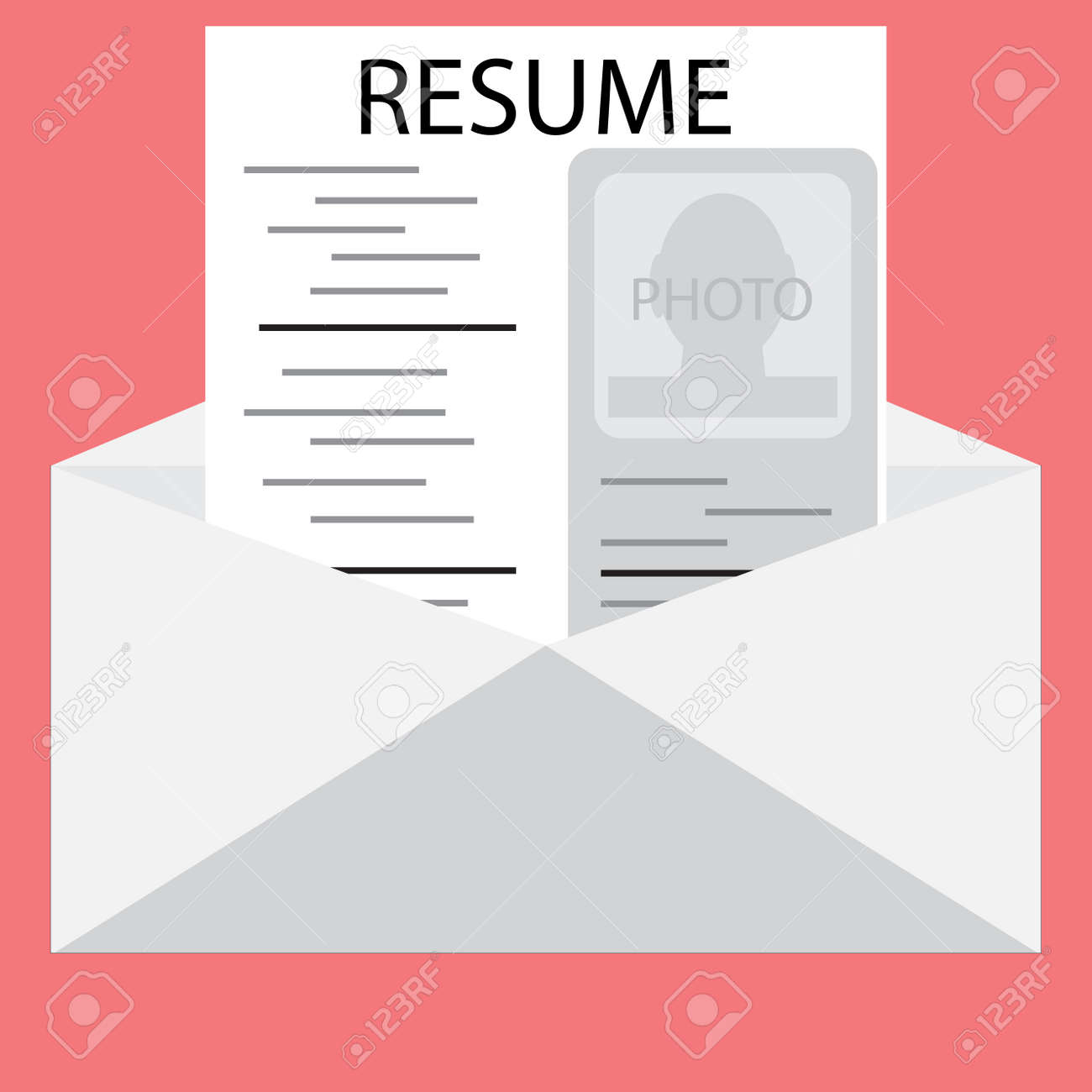 templates resume in an envelope invite to job interview job