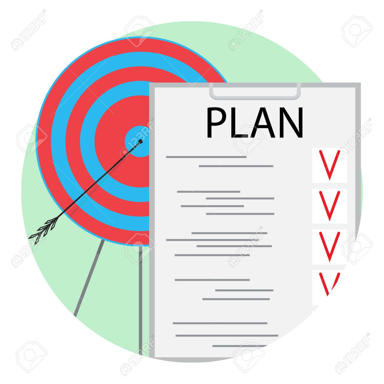 Implementación Del Vector De Icono De Plan. Ilustración De Gestión ...