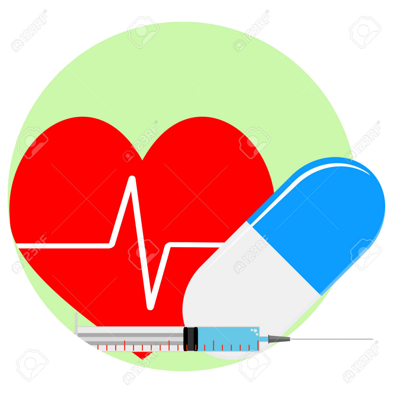 Heart reanimation icon injection and pill for healthy heart banco de imagens heart reanimation icon injection and pill for healthy heart ccuart Choice Image