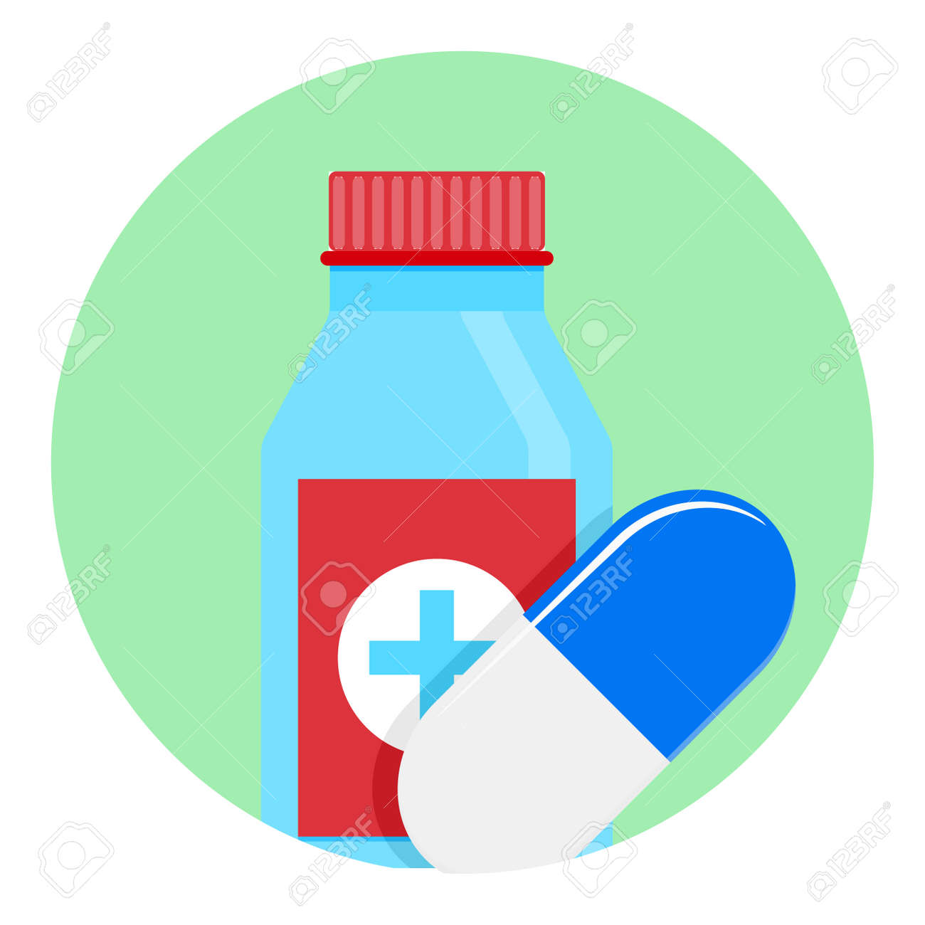 Medicine Icon App Medication Tablet And Capsule Emblem And