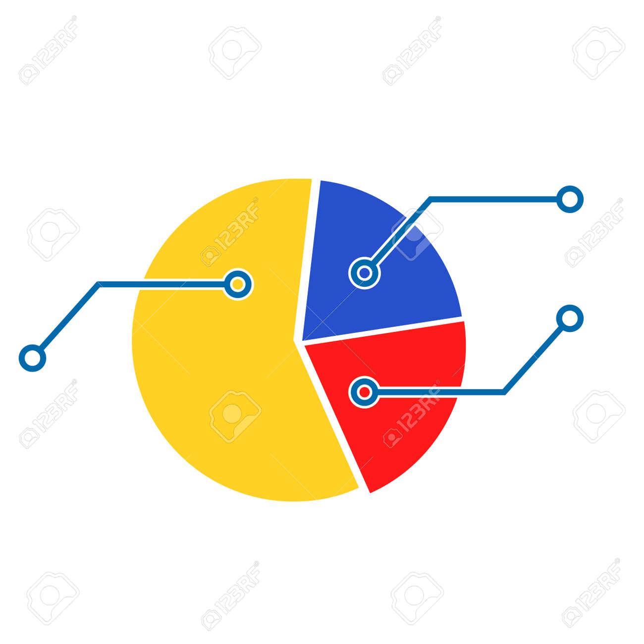 Plantilla De Gráfico Circular. Información Económica Financiera ...