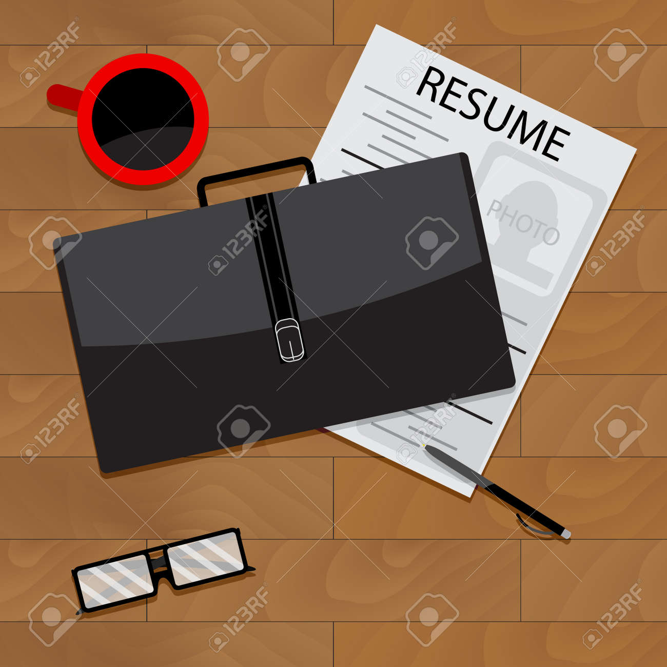 Job Search Top View Career And Resume Job Seeker And Application