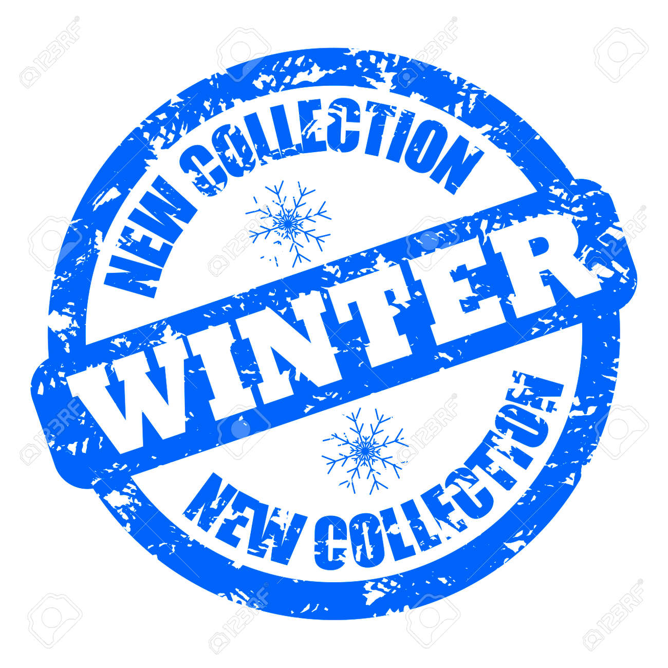New Collection Winter Rubber Stamp Clothes And Shoes Vector Seal Labeling Mark