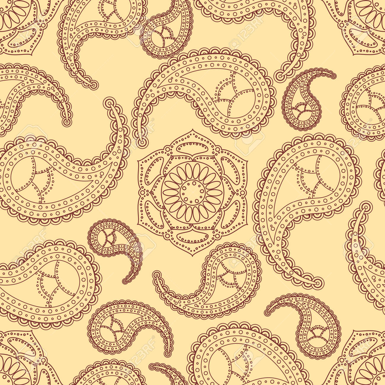 Vintage seamless paisley pattern Stock Vector - 14254781