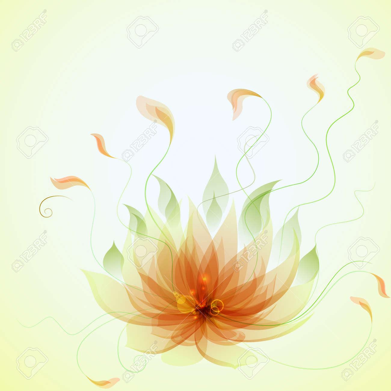 Abstract vector yellow lotus flower royalty free cliparts vectors abstract vector yellow lotus flower stock vector 14885970 mightylinksfo