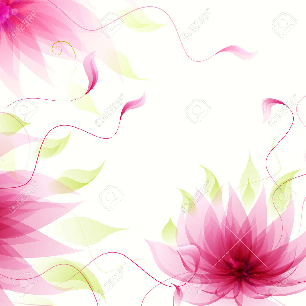 Yoga pattern background seamless pattern with five petals lotus flower - Lotus Flower Vector Abstract Background With Vector Pink Lotus Flower Illustration