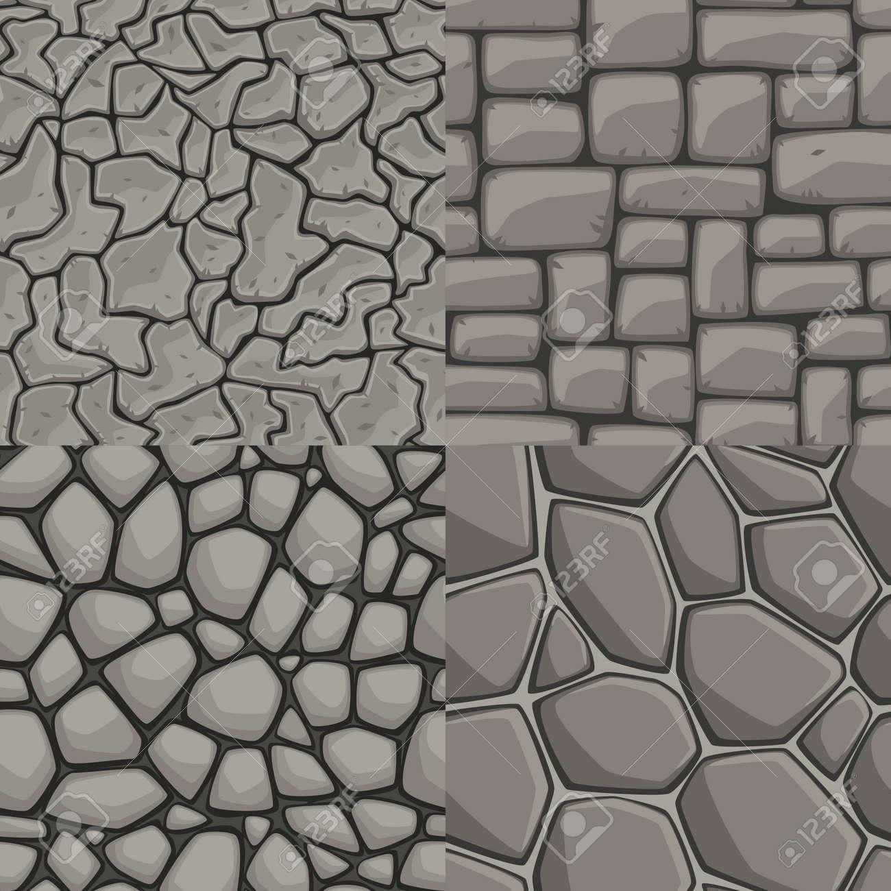 muro de piedra vector de dibujos animados coleccin perfecta textura foto de archivo