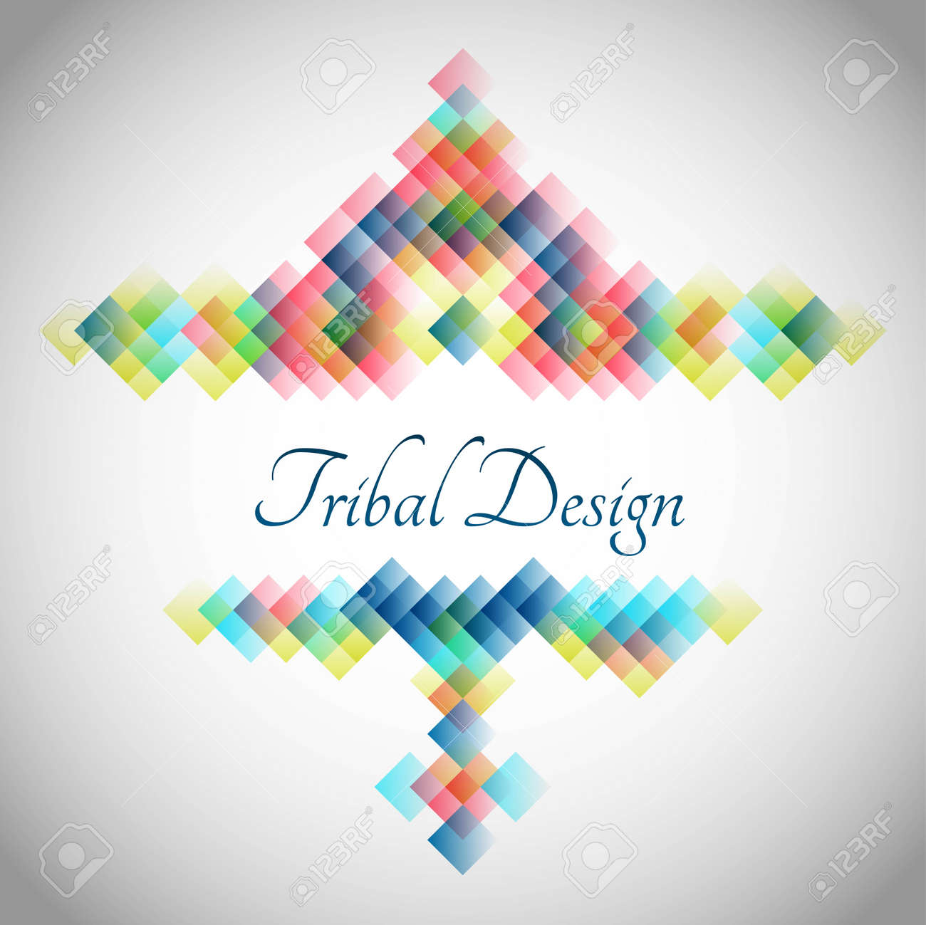 Abstract background with bright abstract geometric element for