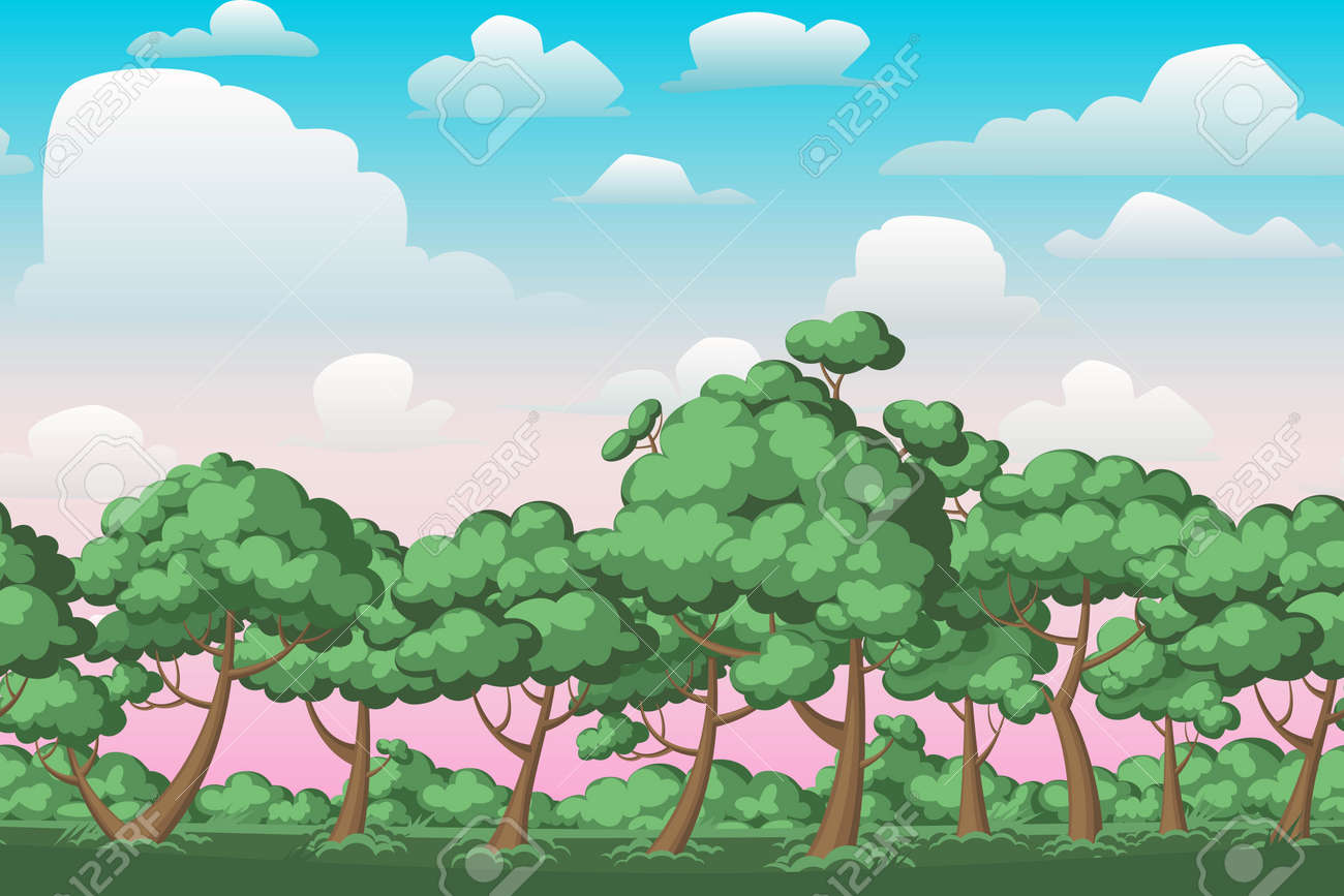 Cartoon Nature Seamless Horizontal Landscape With Bushes Trees Royalty Free Cliparts Vectors And Stock Illustration Image 55189525 50,000+ vectors, stock photos & psd files. cartoon nature seamless horizontal landscape with bushes trees