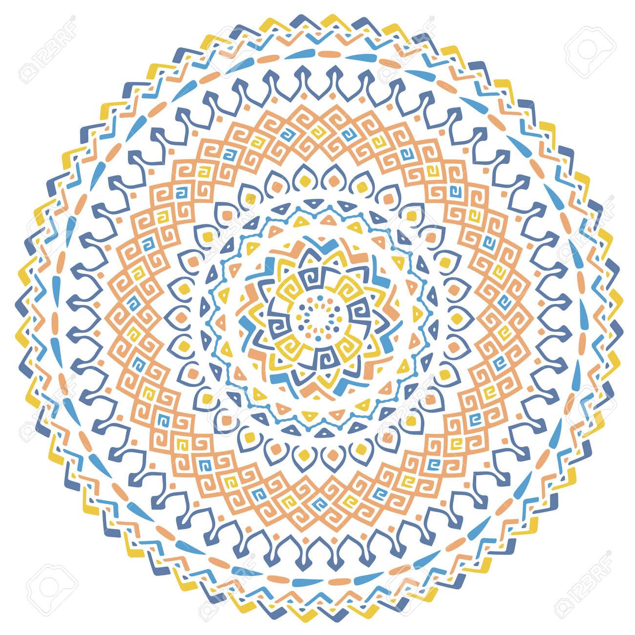 Vector De Fondo Con Mandala Arabe Africa Motivos Bohemios - Mandalas-indios