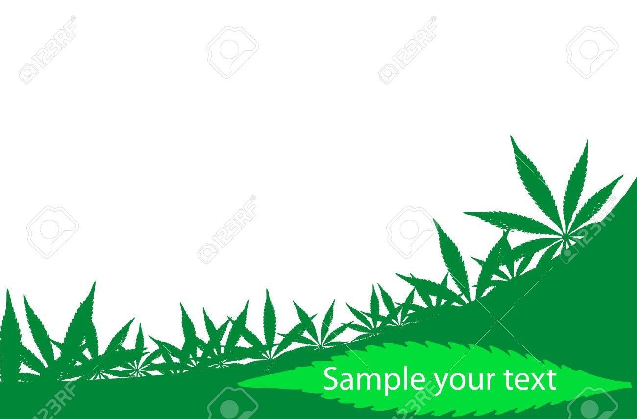 Cadre De Cannabis Qui Peut Tre Utilis Comme Une Carte Visite