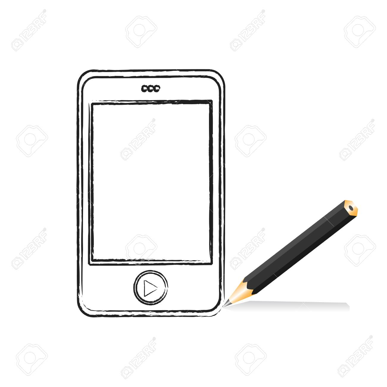 Cartoon MP3 player for your design, vector illustration Stock Vector - 9542805