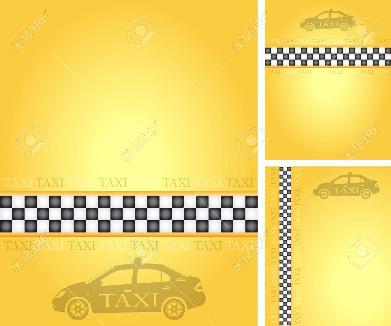 Set of taxi banners, vector illustration Stock Vector - 9542889