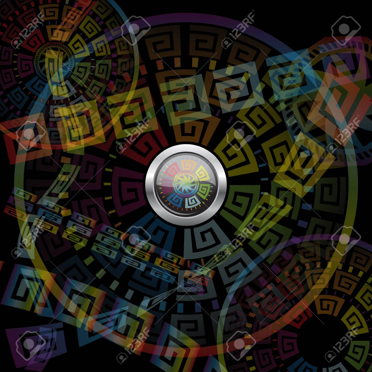 Abstract button and motley background. Stock Vector - 12391683