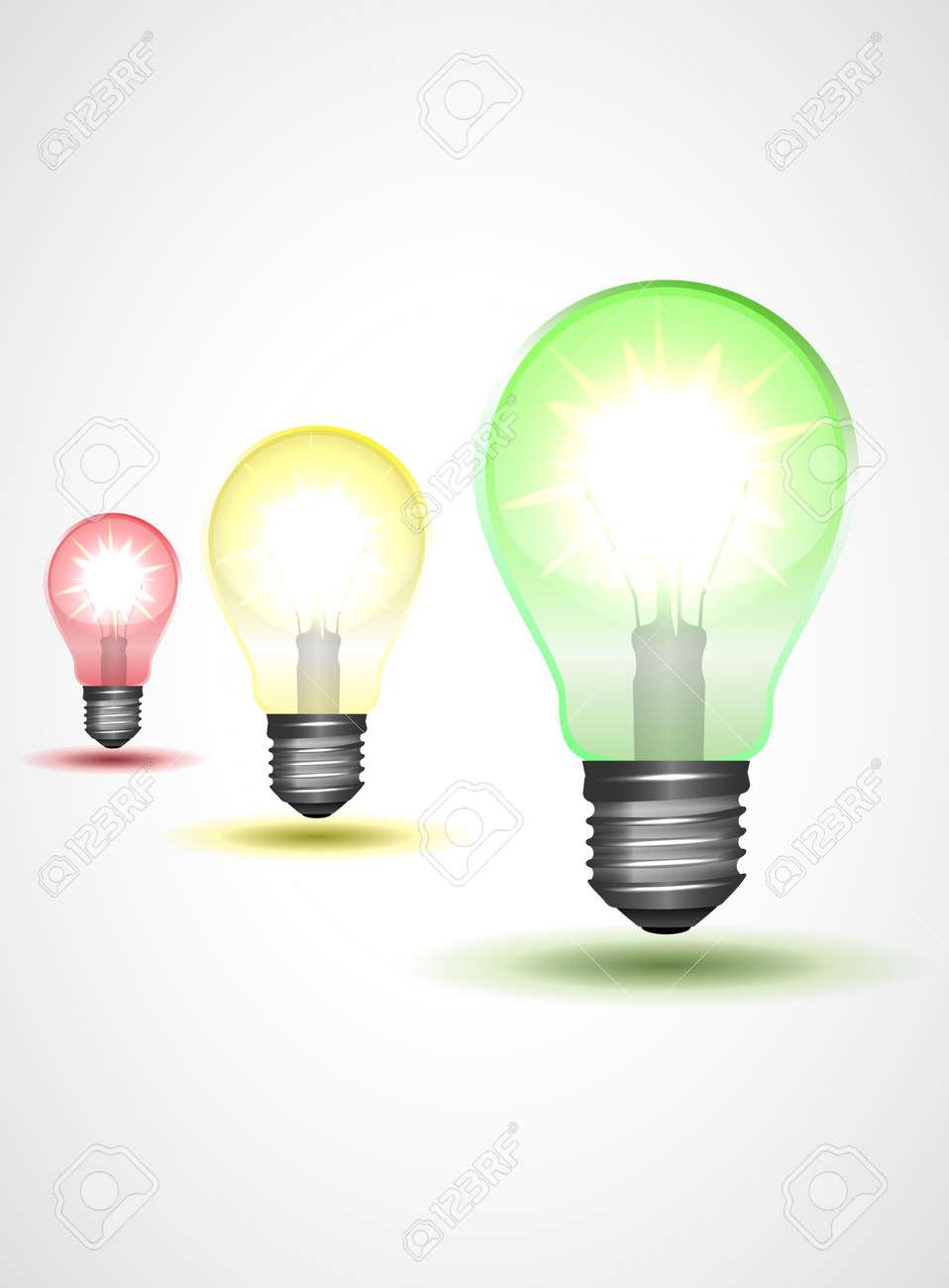 Traffic light or varicolored lamp set illustration Stock Vector - 12498475