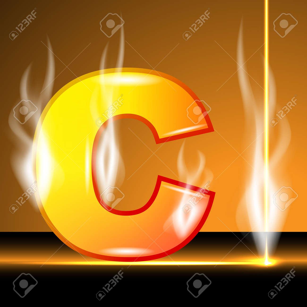Hot alphabet of devil Stock Vector - 13152912