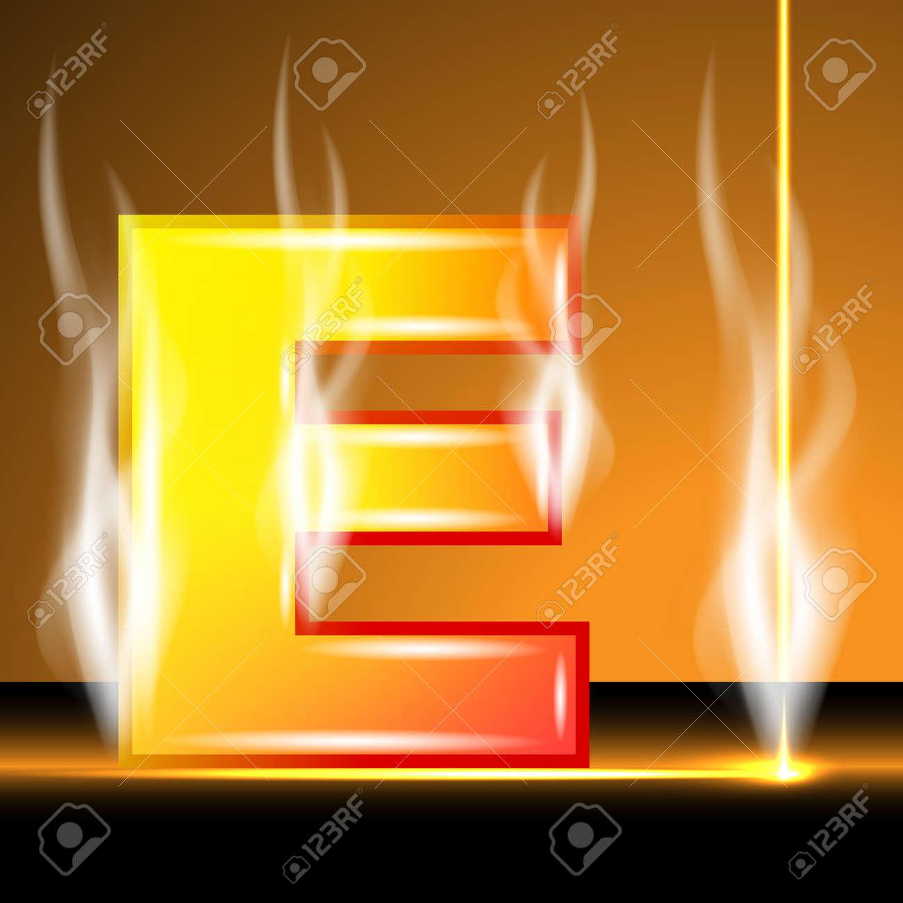 Hot alphabet of devil Stock Vector - 13152920