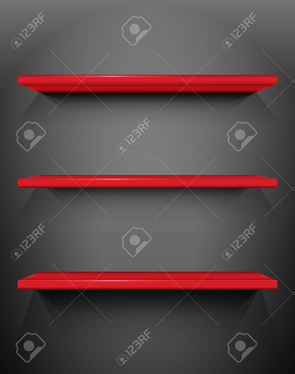 Shelves with place for your exhibits Stock Vector - 13841517