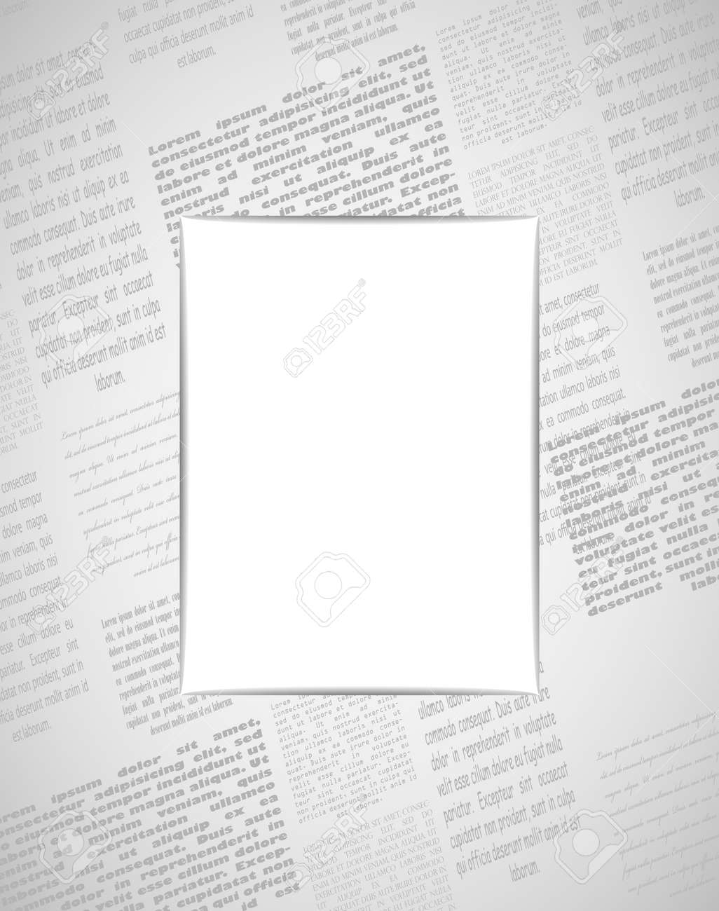 newspaper frame 2 layers stock vector 14688824
