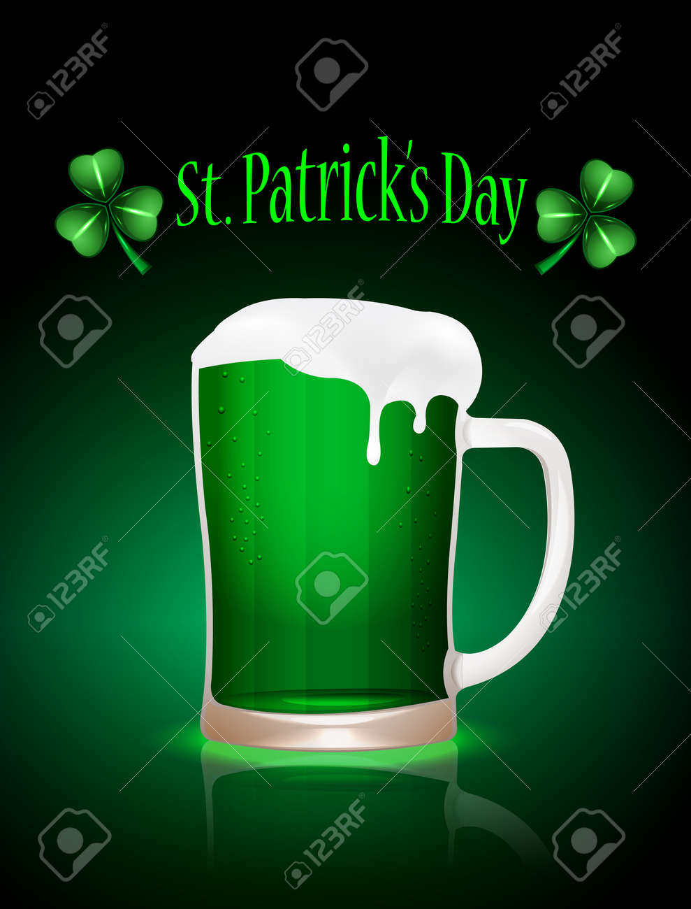 St.Patrick beer mag Stock Vector - 15013410