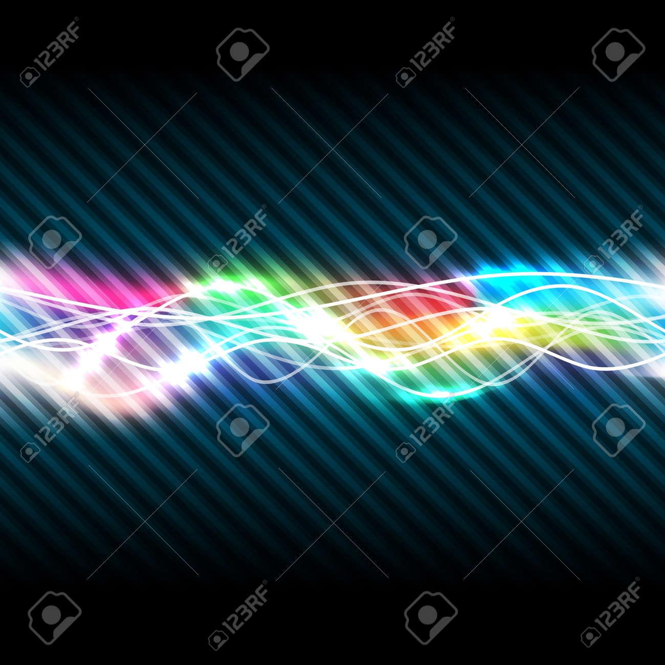 Abstract magic light of rainbow, vector illustration, eps10, 2 layers Stock Vector - 15538986