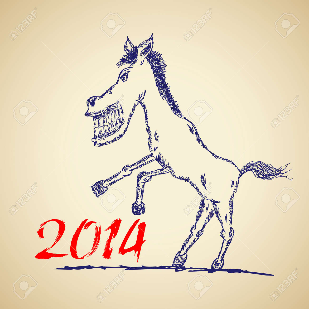 Funny Horse Sketch For Your Design Vector Illustration Eps10 Royalty Free Cliparts Vectors And Stock Illustration Image 23474019