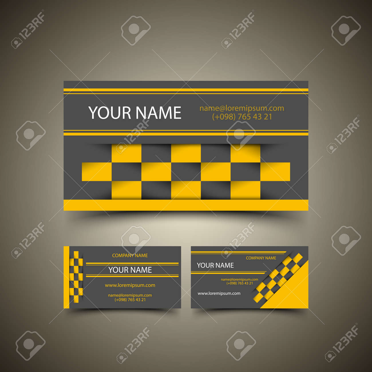 Taxi Business Card Set Royalty Free Cliparts, Vectors, And Stock ...