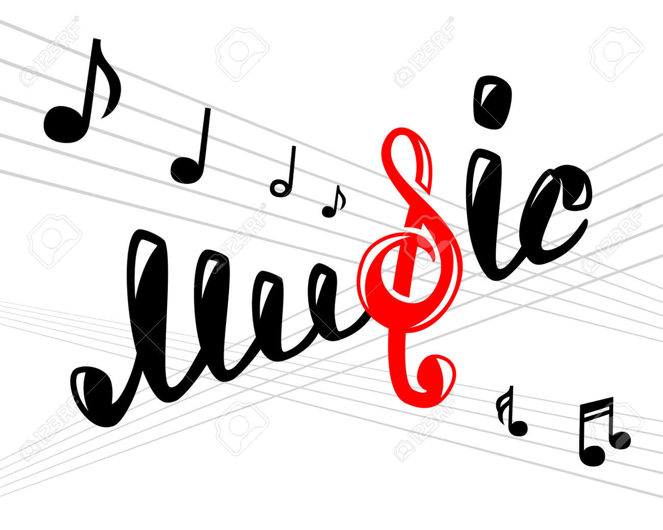 music logo on white vector illustration for your design eps10 rh 123rf com music vector background musical vectors