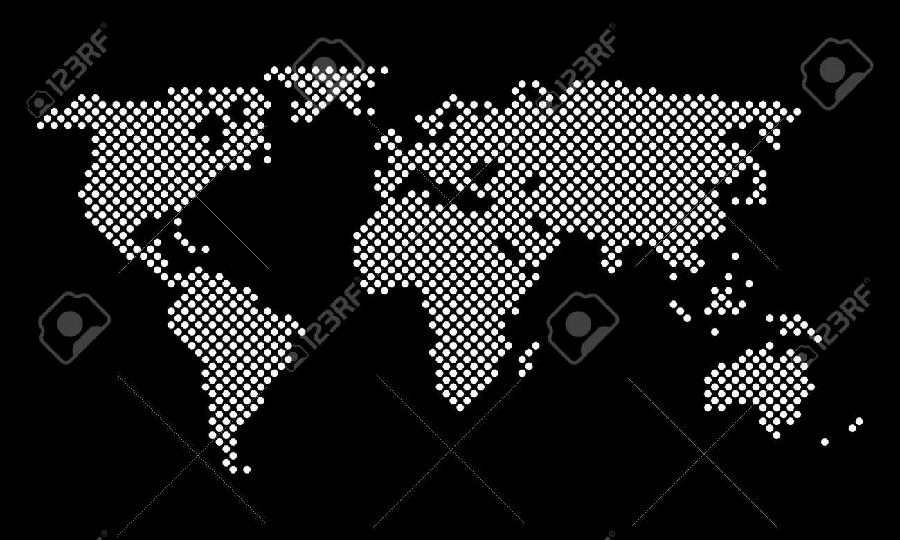 World map round pixel dots vector royalty free cliparts vectors vector world map round pixel dots vector gumiabroncs Images