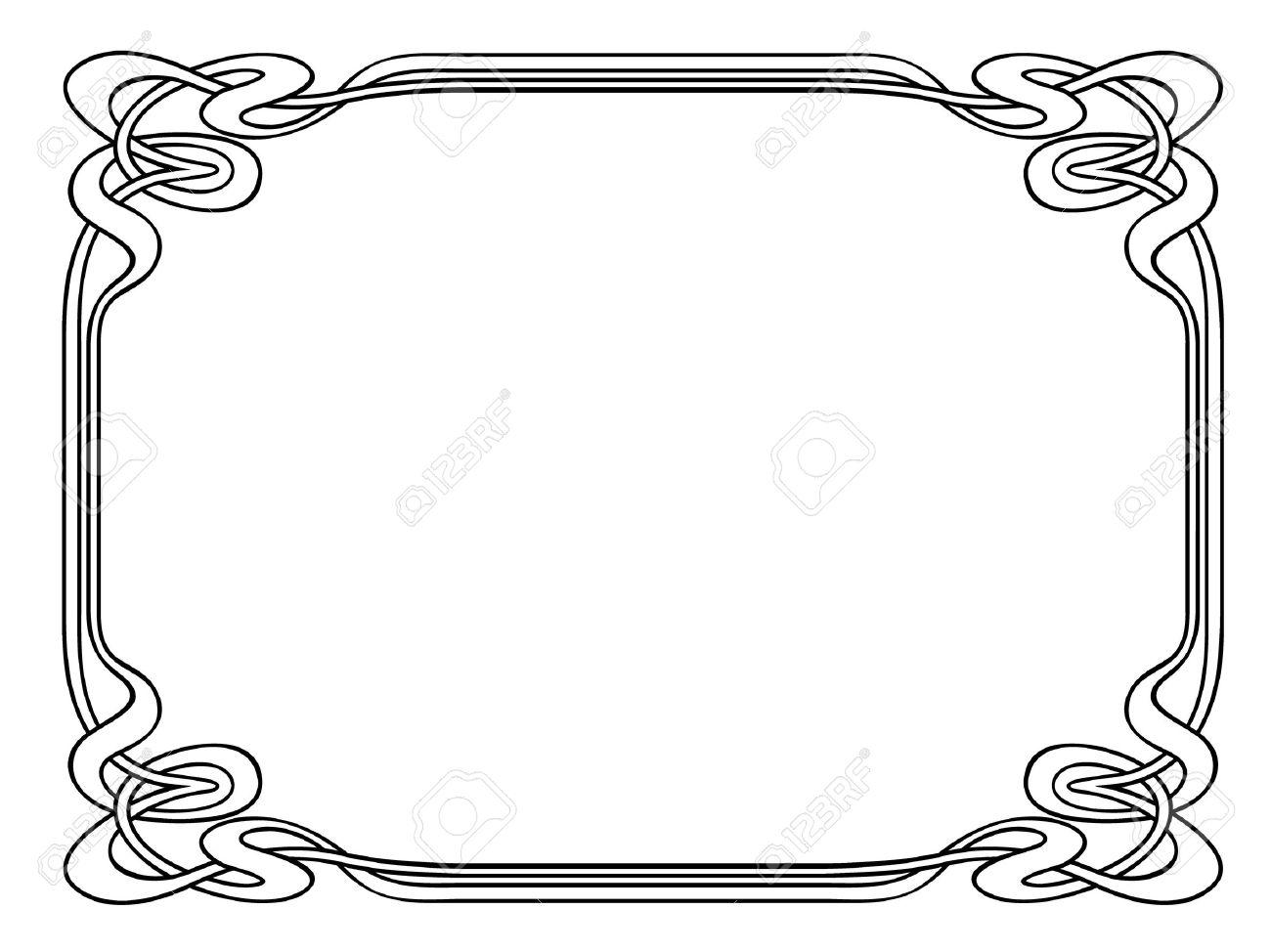 Vector art nouveau modern ornamental decorative frame Stock Vector - 9716219