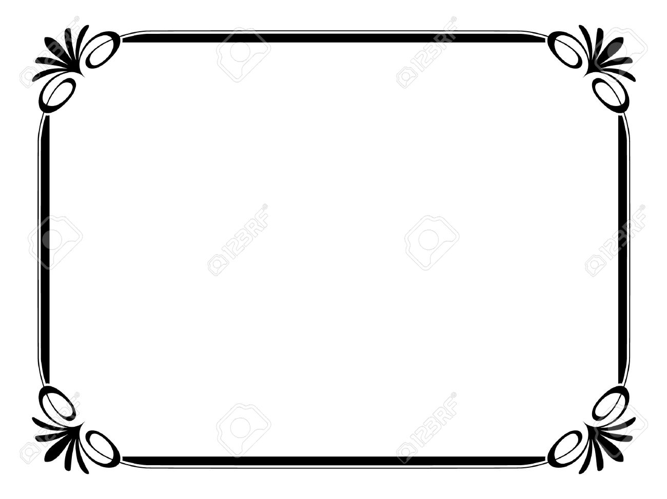 Vector Simple Ornamental Decorative Frame Royalty Free Cliparts ...