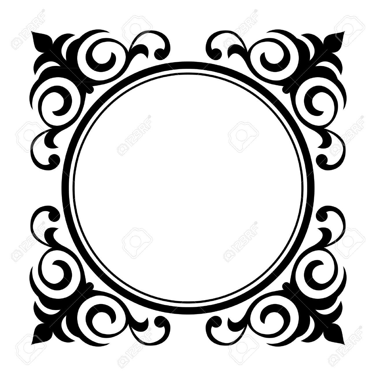 Vector circle ornamental decorative frame Stock Vector - 9716214