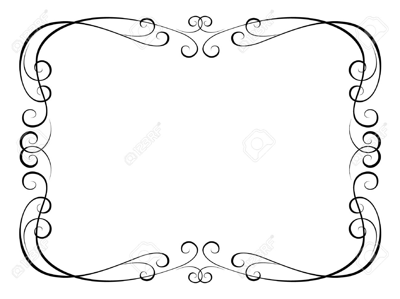 Vector calligraphy penmanship ornamental frame Stock Vector - 9716216