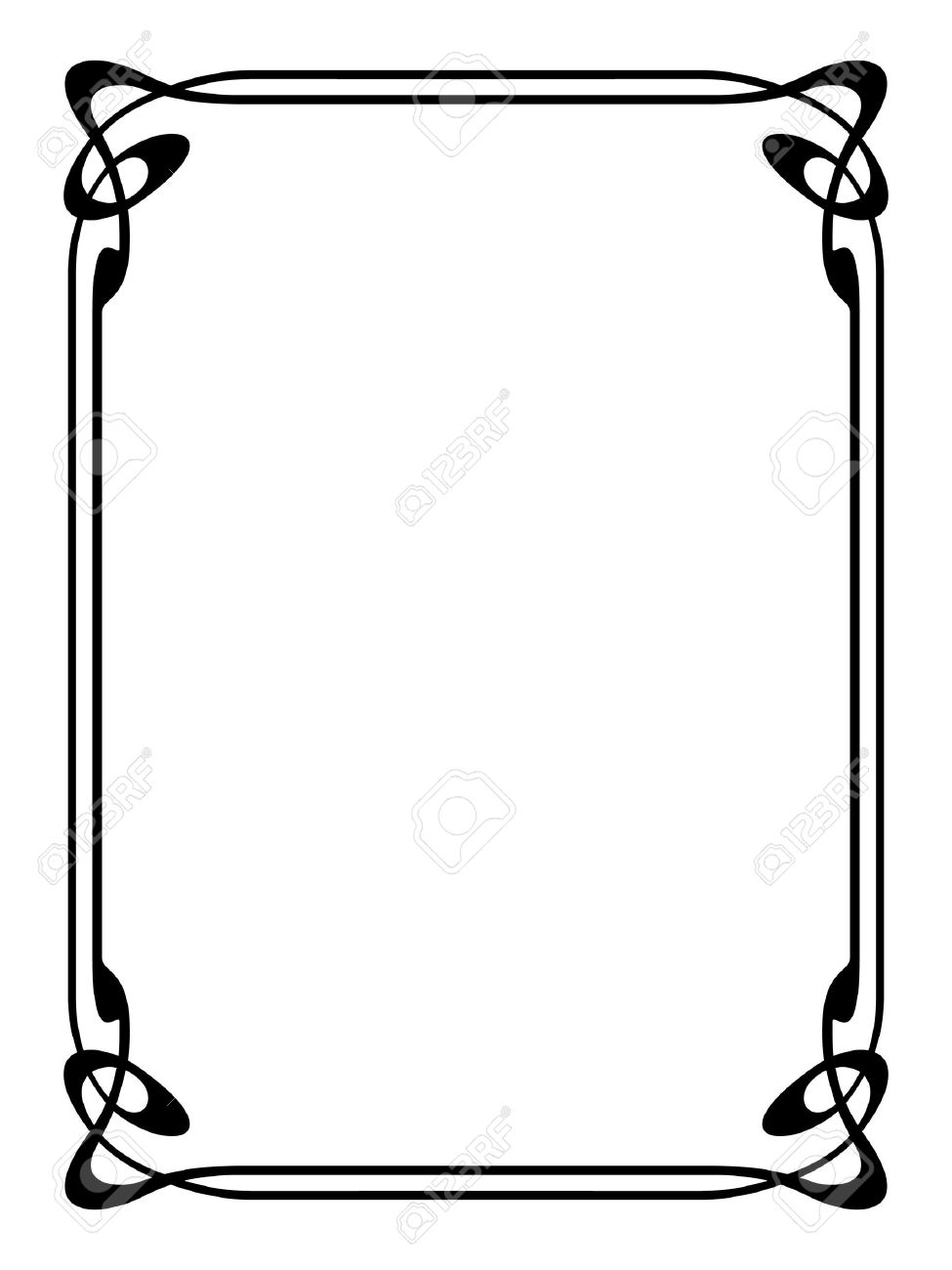 art nouveau modern ornamental decorative frame royalty free cliparts rh 123rf com vector borders illustrator vector borders and frames