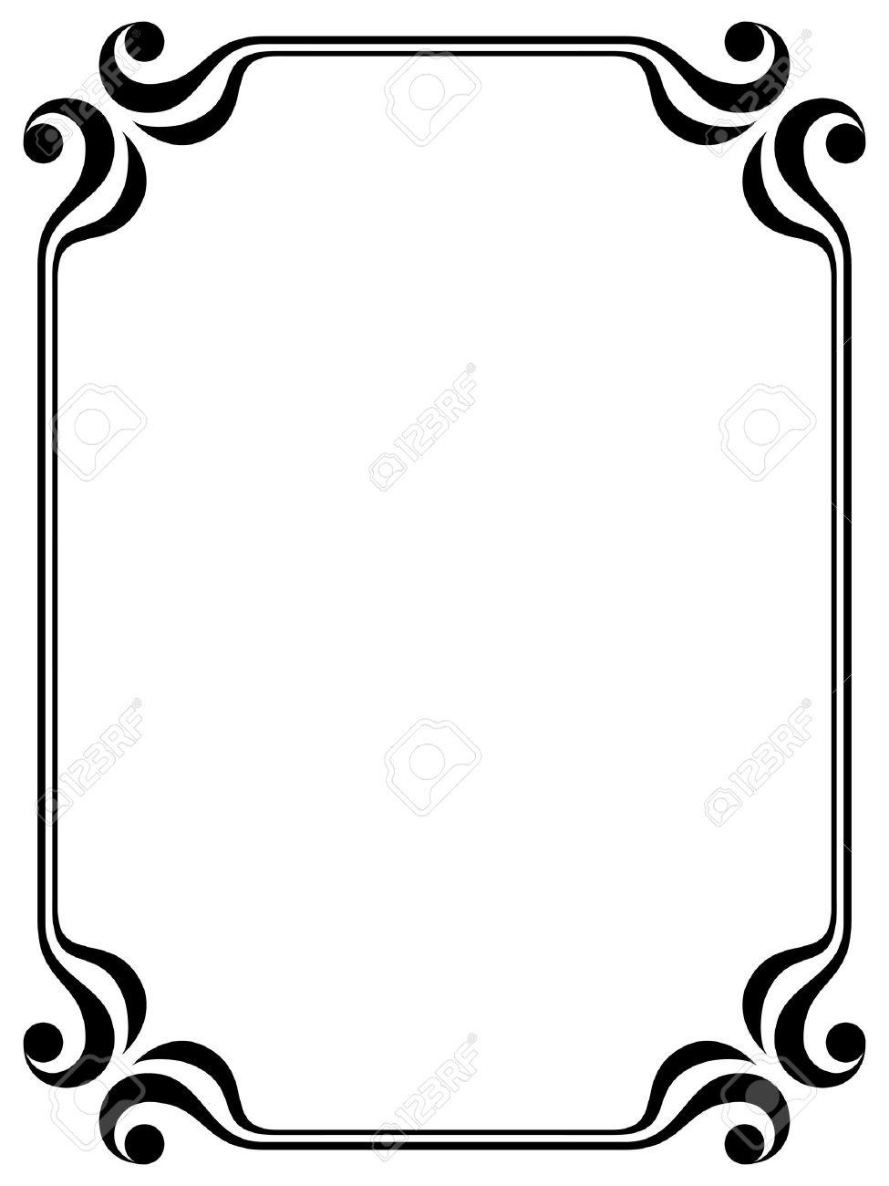 simple calligraph ornamental decorative frame pattern Stock Vector - 10081890