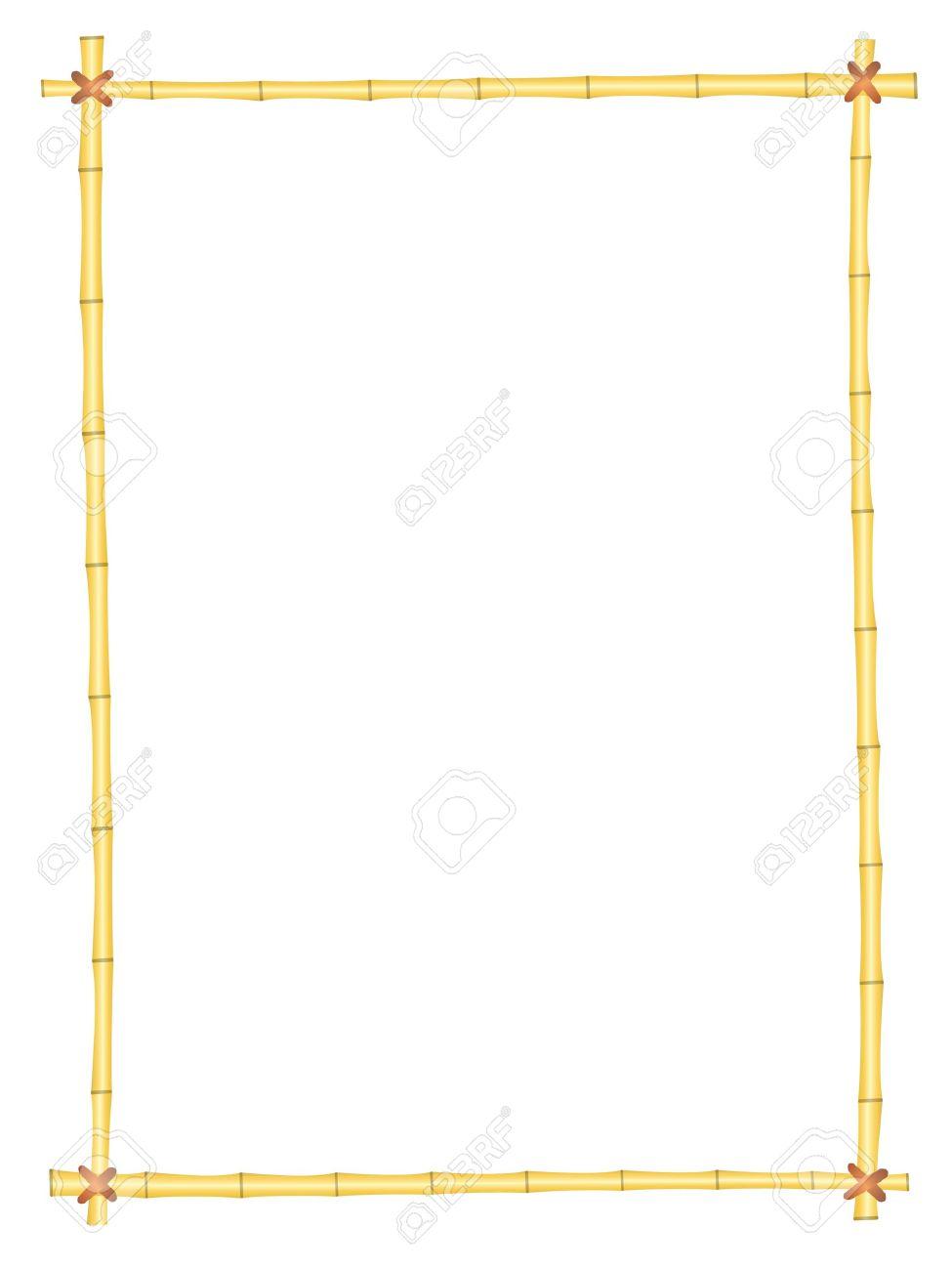 シンプルな竹フレームの分離パターン背景 ロイヤリティフリークリップ