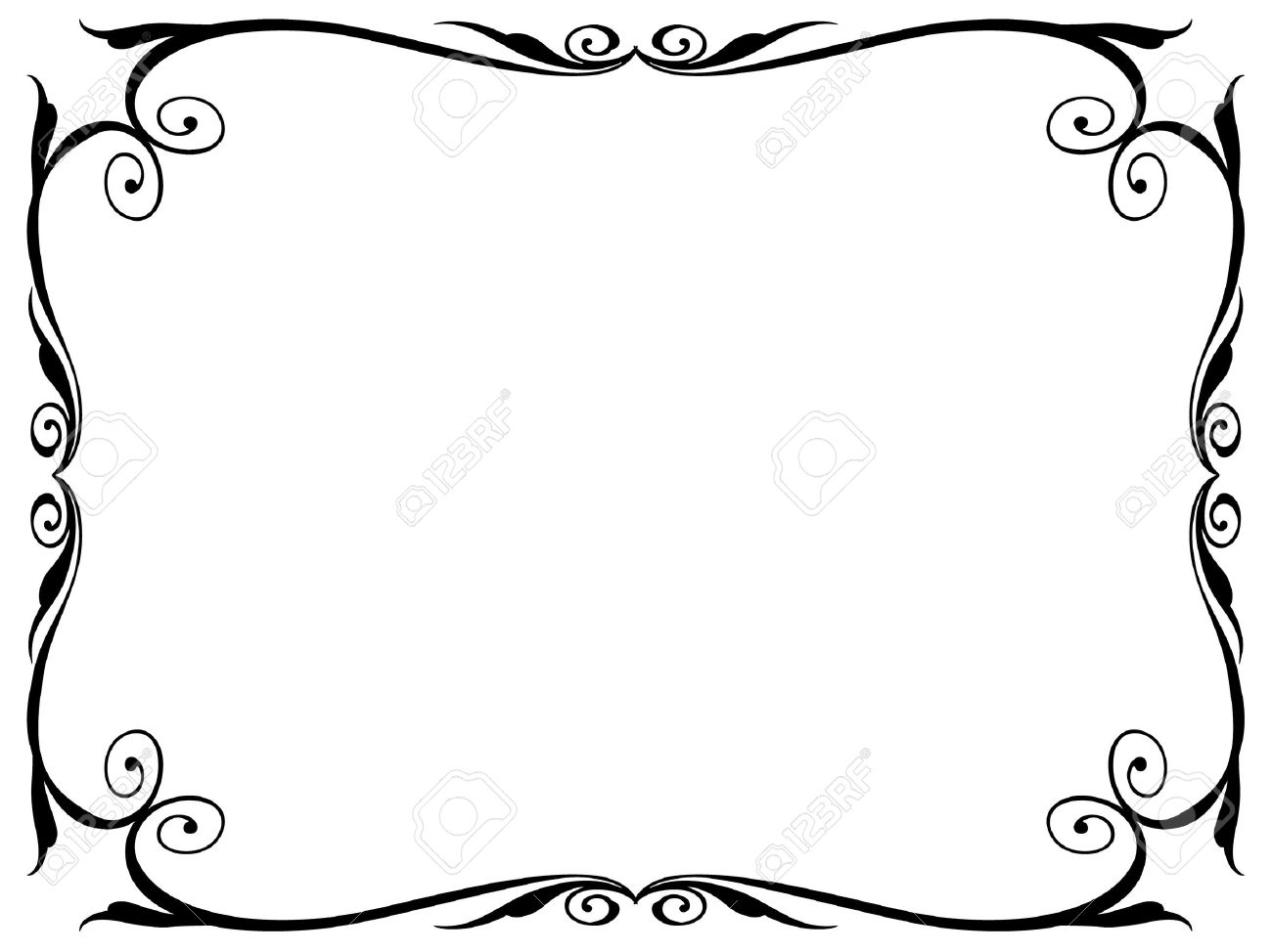 simple calligraphy ornamental decorative frame pattern Stock Vector - 10896336