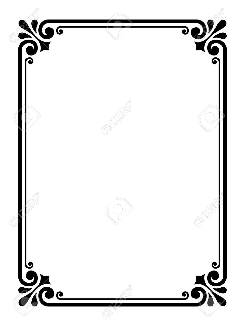 Vector simple calligraph ornamental decorative frame pattern - 11142798